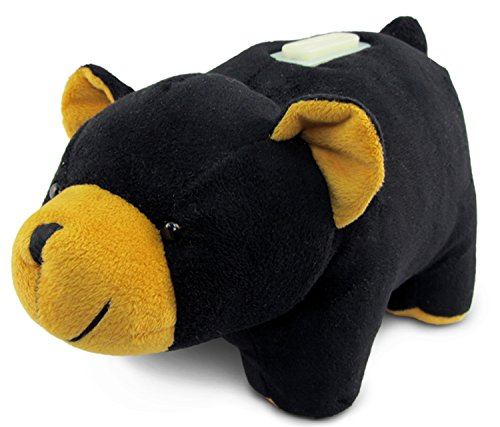 Puzzled Cute Stylish Black Bear Plush Pillow Huggie Bank Decorative Polyester Stuffed Animal Down Pillows Alternative for Kids Toddlers Boys Girls Extra Large 9 Inch ()