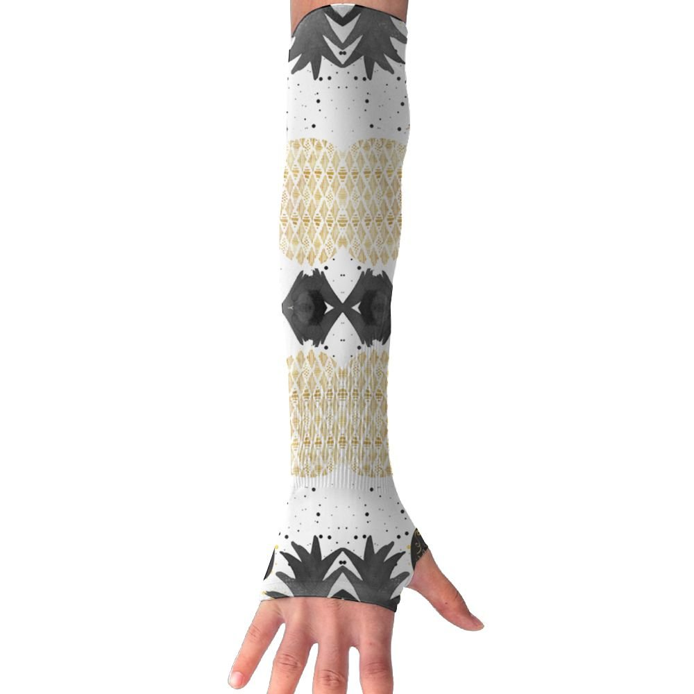Huadduo Golden Pineapples UV Protection,Compression & Cooling Arm Sleeves For Cycling/Golf/Basketball/Other Sports
