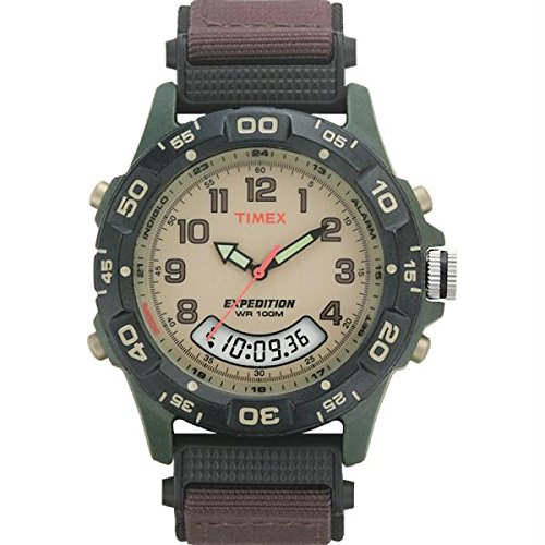 (Timex Expedition Resin Combo Classic Analog Green/Black/Brown)