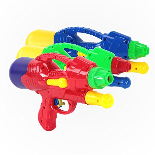 UPC 859698803376, KiiSports® Water Mini Cannon Blaster - 3 Pack - Water Jets Soaker, Super Summer Fun! Hand Pumped Nozzle Shooter, Long Range Shooting + Warranty (3 Pack Varies Color)