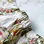 Brandream-Cotton-Floral-Crib-Sheet-for-GirlsSoft-Flower-Toddler-Sheets-Printed-All-Seasons-Use-Cozy-Hypoallergenic-Baby-Sheets-for-Standard-Crib-and-Toddler-Mattress-White-Vintage-Nursery-Decor
