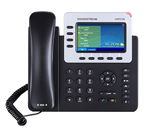 3 opinioni per Grandstream Networks GXP2140 4lines LCD Wired handset Black IP phone- IP phones