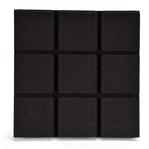Yunt 30 30CM Square Acoustic Panels DIY Mural Wall Stickers for Wall Door Sound Absorber Noise Reduction 6 Pack