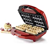 American Originals EK1628 6-Finger Waffle Maker for Fun Cooking, Red