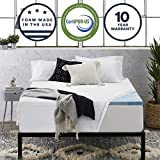 Sleep Innovations 2.5-inch Gel Memory Foam Mattress Topper with 100% Cotton Cover Queen