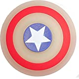 Super Hero Shield Night Glow Hand Spinner Toy with Rubber Coated Body