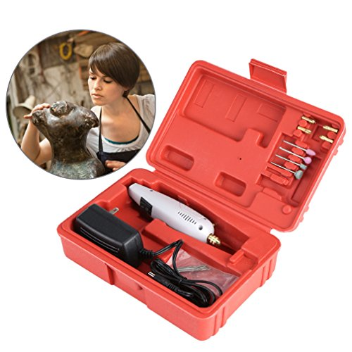 Mini Electric Drill Sculpture Grinder Tools Set, DIY Wood Jade Stone Small Crafts Cutting Drilling Grinding Engraving Micro Precision Electrical Hand Drill Pen Kit