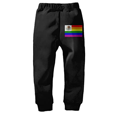 Rainbow Gay Pride FlagKid's Winter Cotton Unisex Little Boys' Girls' Active Basic Jogger Pants