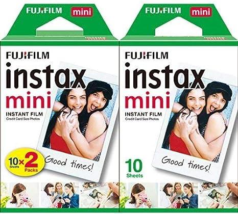 Fujifilm Instax Mini Brillo - Pack de 500 películas fotográficas instantáneas (50 x 10 hojas), color blanco: Amazon.es: Electrónica
