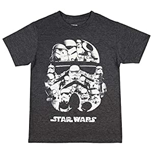 Star Wars Boys' Shirt Stormtrooper Collage Trooper Helmet Youth Officially Licensed T-Shirt