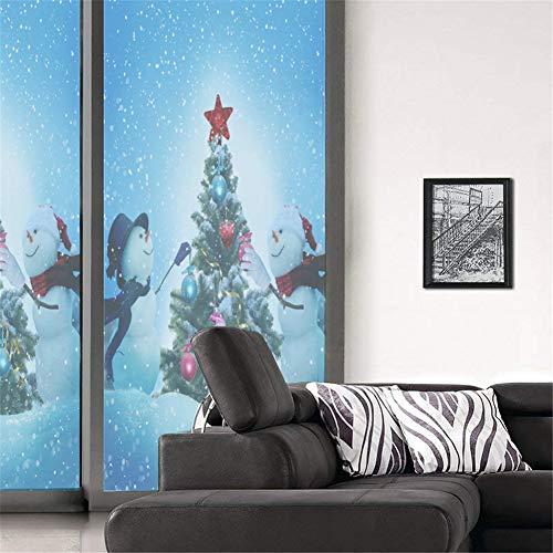 XXRBB Window Film Decorative Glass Sticker Non-Adhesive Static Cling,Bathroom Blackout Privacy Window Coverings,120x58cm(47x23inch),Christmas Series,3,120x58cm(47x23inch) ()