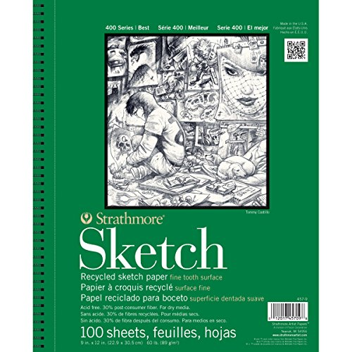 """Strathmore Sketch Spiral Paper Pad 5.5""""X8.5""""-100 Sheets"""