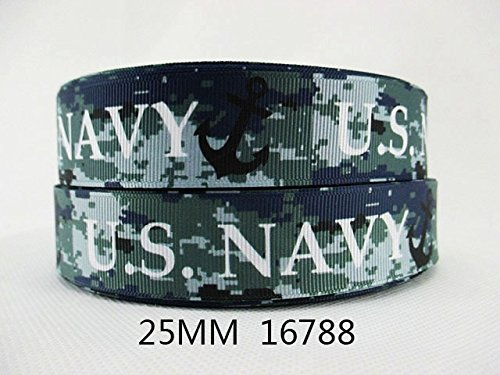 "5 yards NEW 1"" Military Inspired US Navy Grosgrain Ribbon"