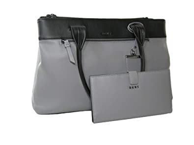 ab9e5cd69f0 New DKNY Logo Donna Karen Purse Hand Bag & Wallet Set 2 Piece Black ...