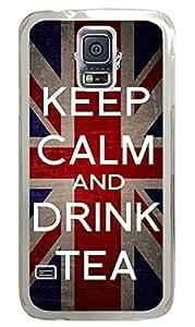 meilz aiaiKeep Calm Drink Tea PC Transparent Hard Case Cover Skin For Samsung Galaxy S5 I9600meilz aiai