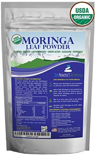 1 lb. Premium Organic Moringa Oleifera Leaf Powder. 100% USDA Certified. Sun-Dried, All Natural Energy Boost, Raw Superfood and Multi-Vitamin. No GMO, Gluten Free. Great in Green Drinks, Smoothies. (Benefits Of Moringa Leaves In Weight Loss)