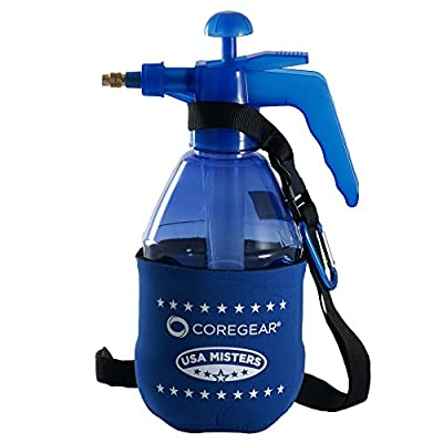 CoreGear (ULTRA COOL) USA Misters 1.5 Liter Personal Water Mister Pump Spray Bottle With Insulated Neoprene Cool Sleeve