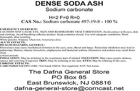 Amazon com: Dafna Brand - 20 Pounds - Sodium Carbonate - Soda Ash