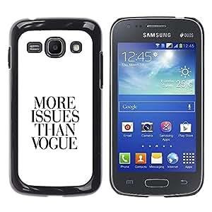 QCASE / Samsung Galaxy Ace 3 GT-S7270 GT-S7275 GT-S7272 / revista qutoe negro blanco vida sin problemas / Delgado Negro Plástico caso cubierta Shell Armor Funda Case Cover