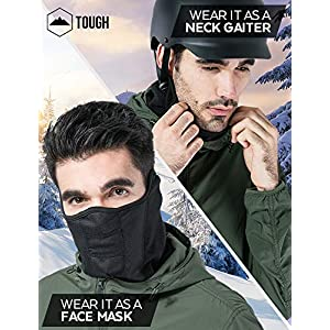 Tactical Neck Gaiter – Half Balaclava Style for Skiing, Snowboarding, Motorcycling & Cold Weather Winter Sports. Protect Your Nose, Mouth, Ears and Neck from the Elements