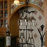 Cheap Wire Black Wine Glass Rack Holder 25″ Height