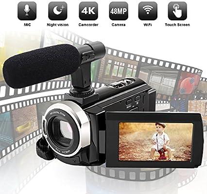 Videocámara 4K Videocámara con cámara Digital Full HD 48.0MP con ...