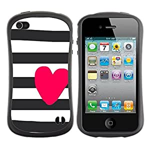 "Pulsar iFace Series Tpu silicona Carcasa Funda Case para Apple iPhone 4 / iPhone 4S , Prisión blancos negros púrpuras Líneas"""