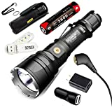 Klarus XT12GT CREE LED XHP35 HI D4 LED 1600 Lumens 18650 Tactical Rechargeable Flashlight with 18650 Battery,Car Charger,Wall Adaptor and SKYBEN USB Light (XT12GT(New Version))