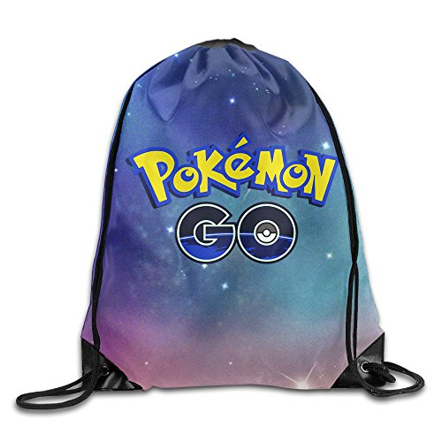 IYaYa Pokemon Go Drawstring Backpack Gym Bag
