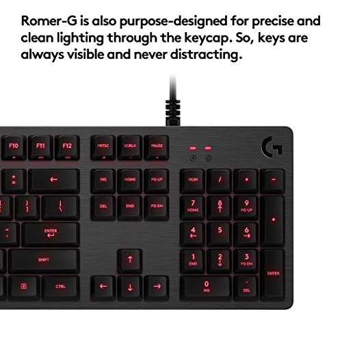 Logitech G413 Backlit Mechanical Gaming Keyboard with USB Passthrough – Carbon by Logitech (Image #1)