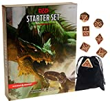 Dungeons & Dragons Starter Set || With Bonus Viking RPG 7 Piece Dice Set || Bonus Black Velveteen Drawstring Storage Pouch || Bundled Items