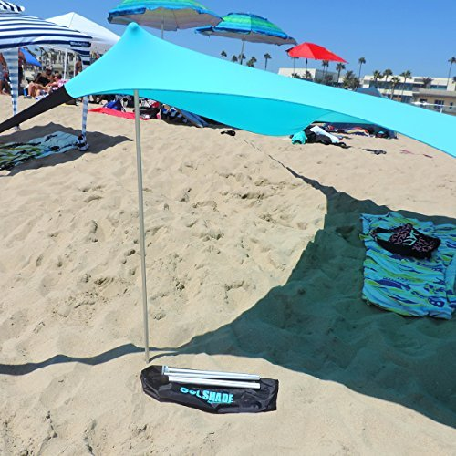 Sol Shadetm Portable Easy Pop Up Beach Stretch Fabric Sun