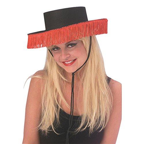 Costume Hats Hi (Rubie's Costume Co Spanish Hat with Fringe)