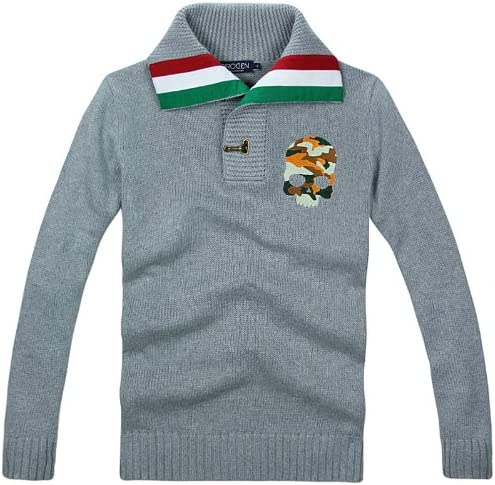 春 夏 新品 メンズ 長袖 ニット 刺繍 セーター YC391