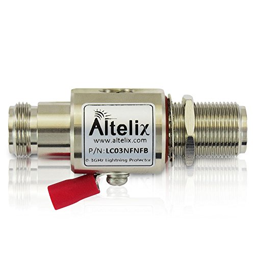 Coaxial F Surge Protector Connector (Altelix Coaxial Surge Protector N Female to N Female 50 Ohm 0-3GHz)
