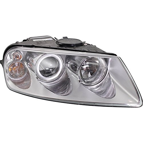 Headlight for Touareg 04-07 RH Assembly Halogen w/Bulb(s) Passenger Side