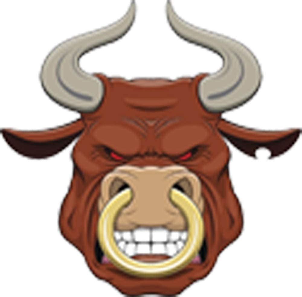 Amazon Com Ferocious Bull Nose Ring Brown Grey Gold Pink Red