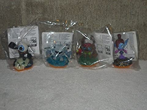 SKYLANDERS SERIES 1 SIDEKICKS COMPLETE SET OF 4 MAIL IN FIGURES Includes: MINI-JINI, BARKLEY, EYE-SMALL, (Skylanders Barkley Sidekick)