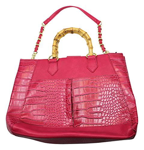olivia-joy-womens-faux-leather-textured-satchel-handbag-pink-large