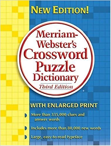 Merriam Webster S Crossword Puzzle Dictionary Merriam Webster