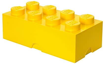 LEGO Storage Brick 8 Bright Yellow