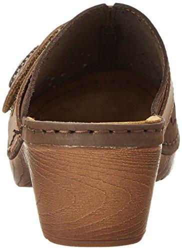 Jana Damen 27303 Offene Sandalen mit Keilabsatz Braun (CAFE 361)