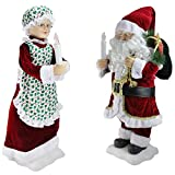 Mr. & Mrs. Claus 24 inch tall Lighted Window Decoration Figurines