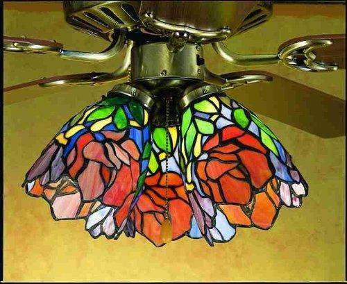 Tiffany Ceiling Fan Shades (5 Inch W Iris Fan Light Shade Ceiling Fixture)