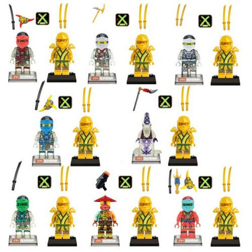 gonggamtop 16pcs Minifigures Ninjago Kai Zane Jay Ninja Minifigs Building Blocks Toy Gifts (Toothless Costume Toys R Us)