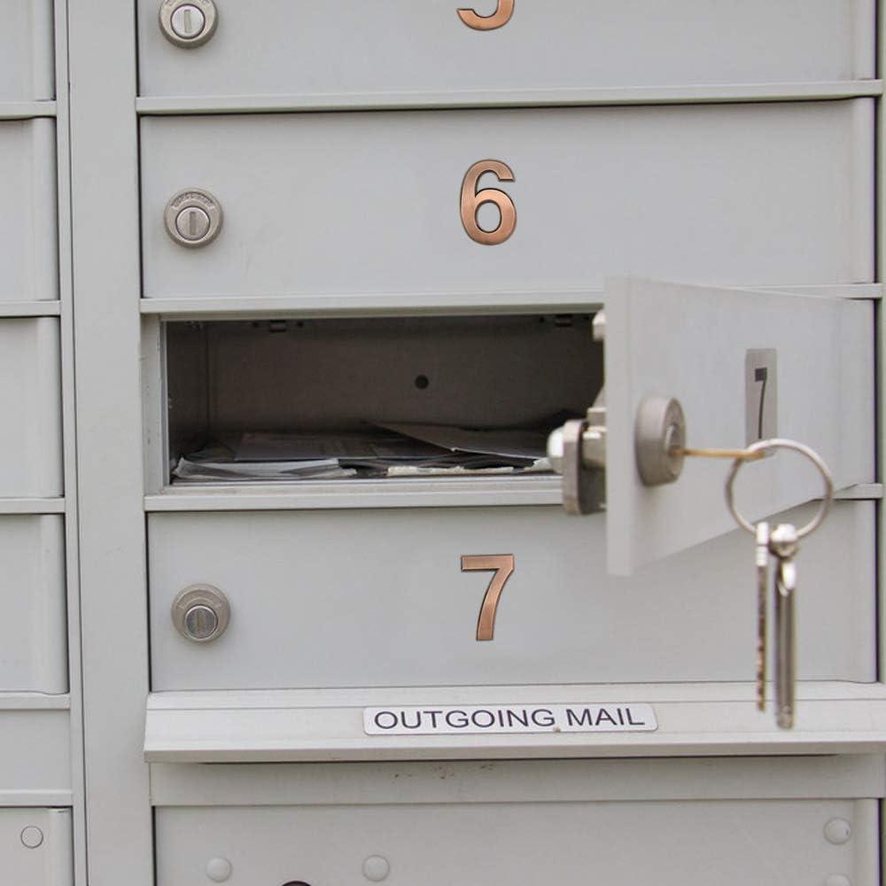 casa autoadesivi per indirizzo moderno e numero civico per cassetta postale bronzo 6-3//4 pollici Meetory appartamento Confezione da 10 numeri per porta da 0 a 22 ufficio