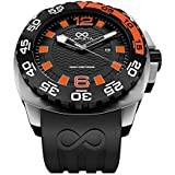 LAPIZTA Audax 300M Diver's Watch – 48mm Black & Orange, Stainless Steel L22.1403