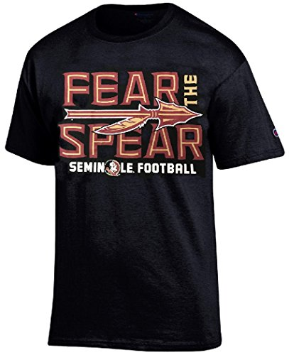 T-shirt Black Practice Football - Florida State Seminoles Black Champion Fear The Spear T Shirt (Large)