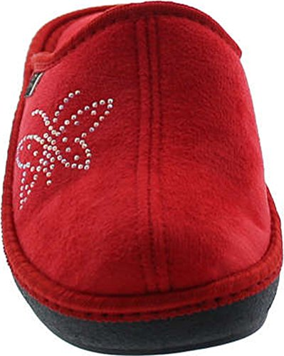 Cozy in Red Collection Wedge SC House Home Slippers Europe 14817 Embroidered Made Womens qYaxA1TnH