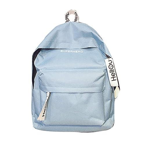 Mochilas escolares juveniles, MINXINWY 2019 bolsas de viaje Bolsos mochila mujer Mochila color liso Mochilas mujer casual pequeña bolsas escolares niño ...